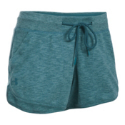 Under Armour Ocean Shoreline Womens Shorts, Marlin Blue-Absinthe Green, medium