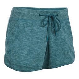 Under Armour Ocean Shoreline Womens Shorts, Marlin Blue-Absinthe Green, 256