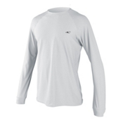 O'Neill 24-7 Tech Long Sleeve Crew Mens Rash Guard, White-White-White, medium