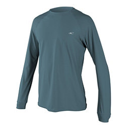 O'Neill 24-7 Tech Long Sleeve Crew Mens Rash Guard, Dusty Blue-Dusty Blue-Dusty Bl, 256