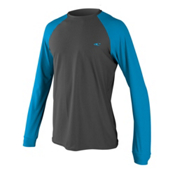 O'Neill 24-7 Tech Long Sleeve Crew Mens Rash Guard, Graphite-Sky-Graphite, medium