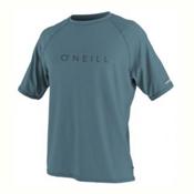 O'Neill 24-7 Tech Short Sleeve Crew Mens Rash Guard, Dusty Blue, medium