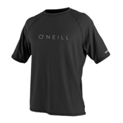 O'Neill 24-7 Tech Short Sleeve Crew Mens Rash Guard, Black, medium