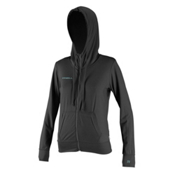 O'Neill 24-7 Hybrid Zip Hoodie Womens Rash Guard, Graphite, medium