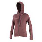 O'Neill 24-7 Hybrid Zip Hoodie Womens Rash Guard, Mesa Rose, medium