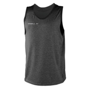 O'Neill Hybrid Tank Top Mens Rash Guard, Graphite-Graphite, medium