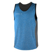 O'Neill Hybrid Tank Top Mens Rash Guard, Brite Blue-Cool Grey, medium