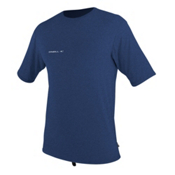 O'Neill Hybrid Short Sleeve Surf Mens Rash Guard, Navy, medium
