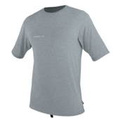 O'Neill Hybrid Short Sleeve Surf Mens Rash Guard, Cool Grey, medium