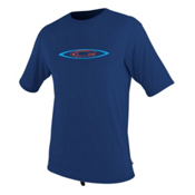 O'Neill Skins Graphic Short Sleeve Mens Rash Guard, Navy, medium