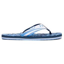 Under Armour Marathon Key II Mens Flip Flops, Blackout Navy-White-Carolina B, 256