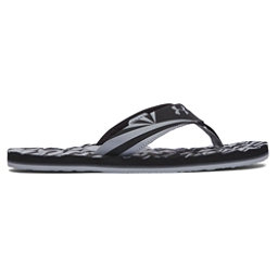 Under Armour Marathon Key II Mens Flip Flops, Black-Gray Wolf-Rhino Gray, 256