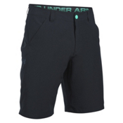Under Armour Turf and Tide Stretch Mens Hybrid Shorts, Black-Absinthe Green-Blackout, medium
