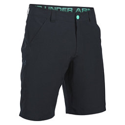 Under Armour Turf and Tide Stretch Mens Hybrid Shorts, Black-Absinthe Green-Blackout, 256