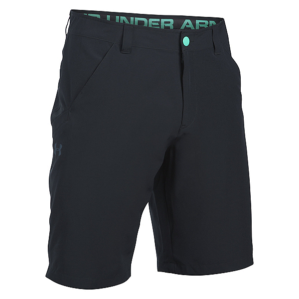 Under Armour Turf and Tide Stretch Mens Hybrid Shorts, Black-Absinthe Green-Blackout, 600