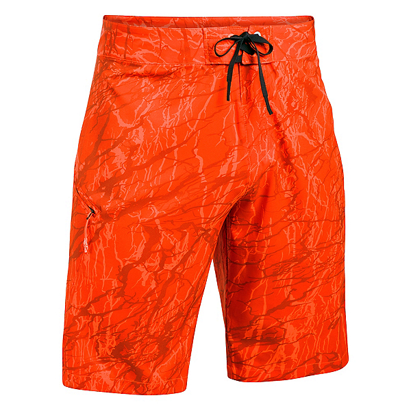 Under Armour Reblek Printed Mens Board Shorts, Phoenix Fire-Black-Overcast Gr, 600