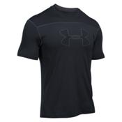 Under Armour Threadborne Short Sleeve Mens Rash Guard, Black-Stealth Gray-Graphite, medium