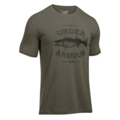 Under Armour Classic Walleye Mens T-Shirt, Foliage Green-Artillery Green, medium