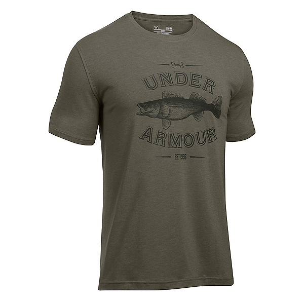 Under Armour Classic Walleye Mens T-Shirt, Foliage Green-Artillery Green, 600