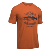 Under Armour Classic Walleye Mens T-Shirt, Texas Orange-Blackout Navy, medium
