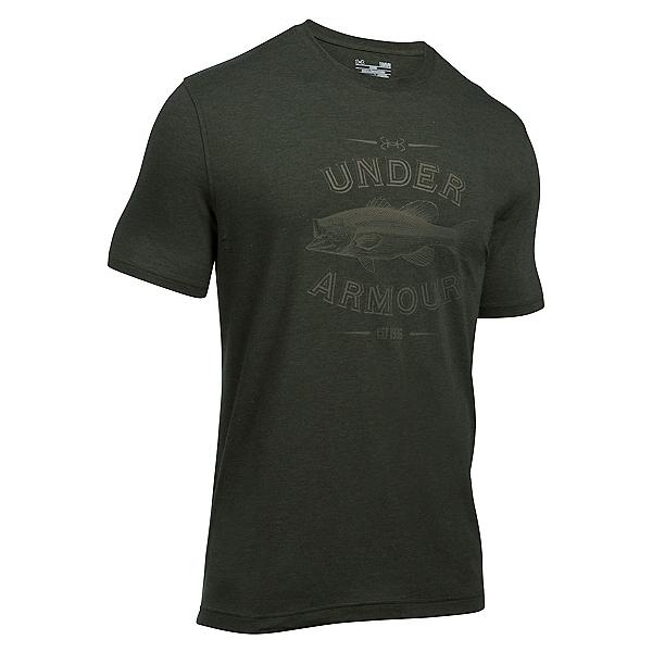 Under Armour Classic Bass Mens T-Shirt, Artillery Green-Foliage Green, 600