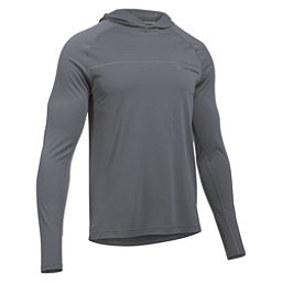 Under Armour Sunblock Hoodie Mens Rash Guard, Graphite-Graphite, 256