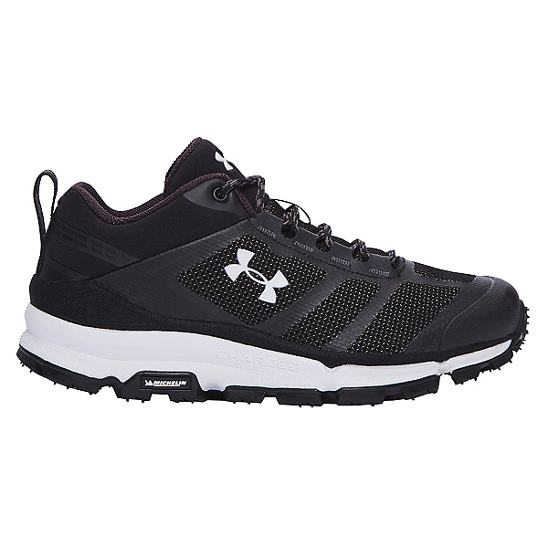 Under Armour Verge Low Womens Athletic Shoes, Black-Black-White, 600
