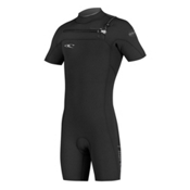 O'Neill Hyperfreak F.U.Z.E. Short Sleeve Shorty Wetsuit 2017, Black-Black-Graphite, medium