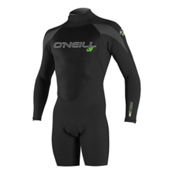O'Neill Epic Long Sleeve Spring Shorty Wetsuit 2017, Black-Black-Graphite, medium