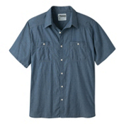 Mountain Khakis Ace Indigo Short Sleeve Mens Shirt, Polkadobby, medium