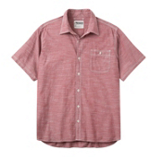 Mountain Khakis Mountain Chambray Short Sleeve Mens Shirt, Garnet, medium