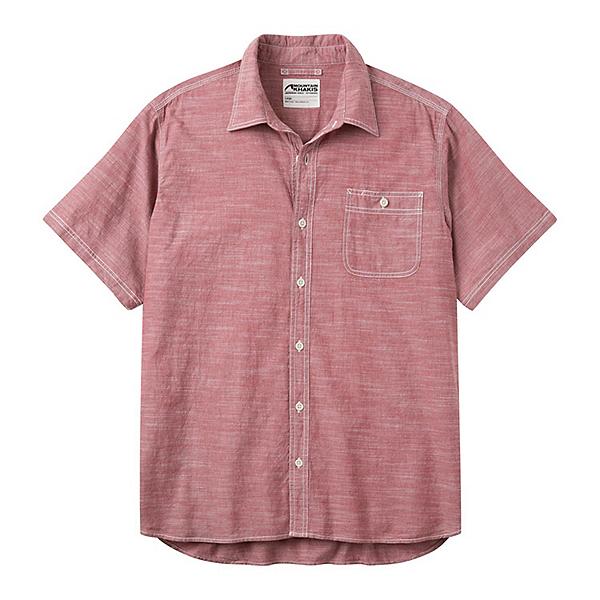 Mountain Khakis Mountain Chambray Short Sleeve Mens Shirt, Garnet, 600