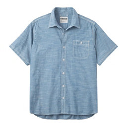 Mountain Khakis Mountain Chambray Short Sleeve Mens Shirt, Riviera, 256