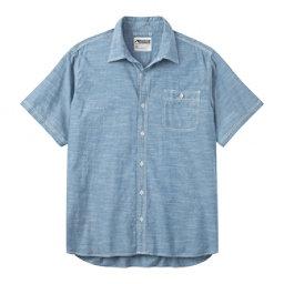 Mountain Khakis Mountain Chambray Short Sleeve Mens Shirt, Riviera, 256