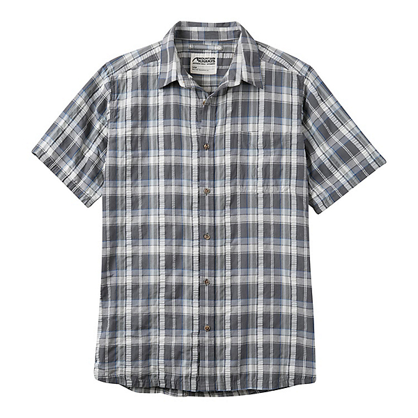 Mountain Khakis Crags EC Crinkle Short Sleeve Mens Shirt, Gunmetal, 600