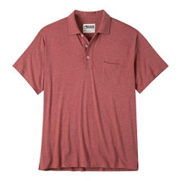 Mountain Khakis Patio Polo Mens Shirt, Rojo Heather, 256