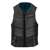 O'Neill Outlaw Comp Adult Life Vest 2017, Black-Brite Blue, medium