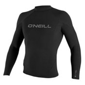 O'Neill Hammer 1.5mm Long Sleeve Crew Wetsuit Top 2017, Black-Black-Black, medium