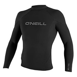 O'Neill Hammer 1.5mm Long Sleeve Crew Wetsuit Top 2017, Black-Black-Black, 256