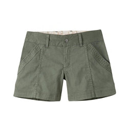 Mountain Khakis Camber 104 Hybrid Slim Fit Womens Shorts, Olive Drab, 256