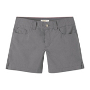Mountain Khakis Poplin 7in Slim Fit Womens Shorts, Gunmetal, medium