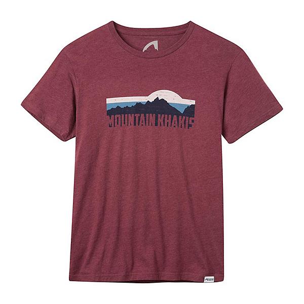 Mountain Khakis Territory Tee Mens T-Shirt, Red Heather, 600