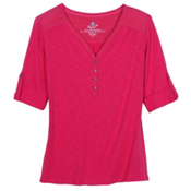 KUHL Shasta 3/4 Womens Shirt, Rhubarb, medium