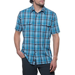 KUHL Response Short Sleeve Mens Shirt, Mood Blue, 256