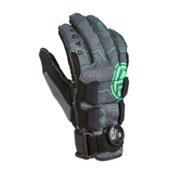 Radar Skis Vapor Boa-A Water Ski Gloves 2017, Grey-Glow, medium