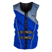Ronix Forester Adult Life Vest 2017, Blue-Grey Plaid, medium