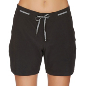 Next Good Karma Beachbreak Womens Board Shorts, Black, medium