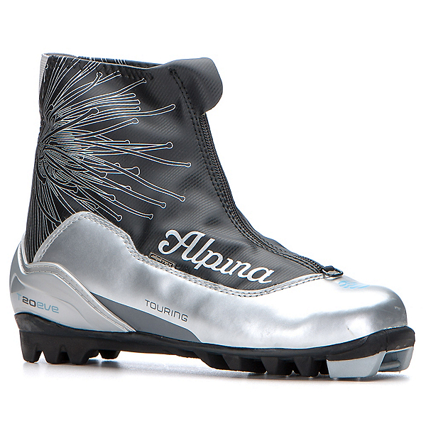 Alpina Eve T 20 Womens NNN Cross Country Ski Boots, Silver, 600