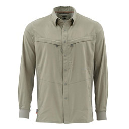 Simms Intruder Bicomp Long Sleeve Mens Shirt, Dark Khaki, 256