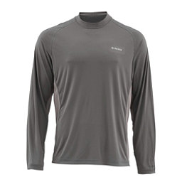 Simms SolarFlex Long Sleeve Solid Crew Mens Shirt, Pewter, 256